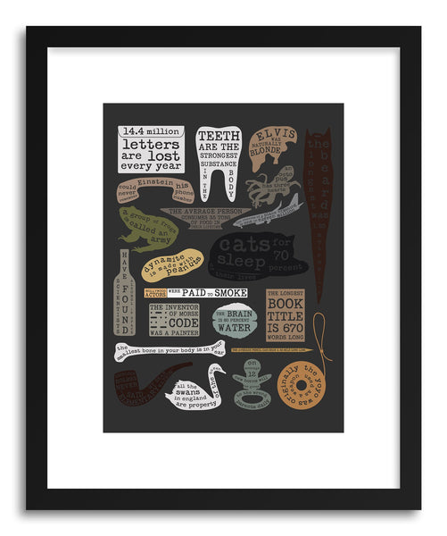 Fine art print Useful Facts by artist Florent Bodart