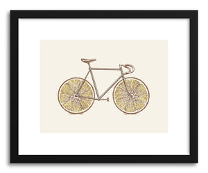hide - Art print Velocitrus by artist Florent Bodart in natural wood frame