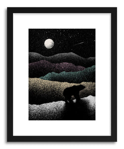 hide - Art print Wandering Bear by artist Florent Bodart on fine art paper