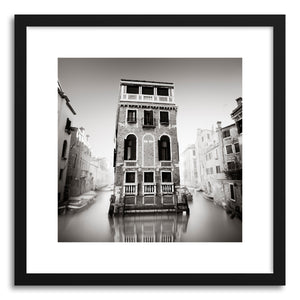 hide - Art print Palazzo Tetta by artist Ronny Behnert in natural wood frame