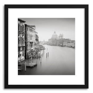 hide - Art print Santa Maria Della Salute by artist Ronny Behnert in natural wood frame