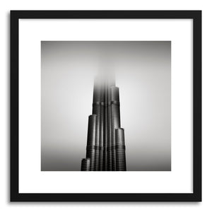 hide - Art print Burj Khalifa No.2 by artist Ronny Behnert in white frame