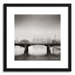 hide - Art print Financial Fog Frankfurt by artist Ronny Behnert on fine art paper