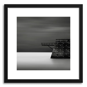 hide - Art print Fortress by artist Ronny Behnert in natural wood frame