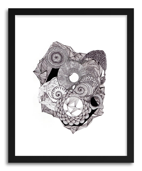 Fine art print Spiral And Line by artist Meri Sawatzky