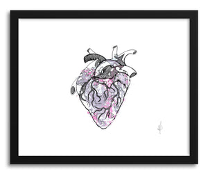 hide - Art print Heart Decay by artist Meri Sawatzky in white frame