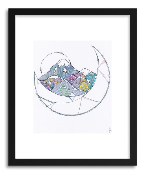 Fine art print Moon Mountain Cradle by artist Meri Sawatzky