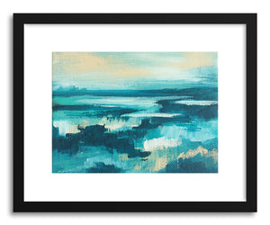 hide - Art print Turquoise Bliss by artist Cory McBee in natural wood frame