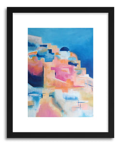 hide - Art print Pastel Coast by artist Cory McBee in white frame
