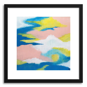 hide - Art print Pastel Sun by artist Cory McBee in white frame