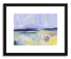 hide - Art print Yellow Marsh by artist Cory McBee in white frame