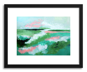 hide - Art print Green Abandon by artist Cory McBee in white frame