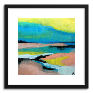 hide - Art print Fieldsof Color by artist Cory McBee in natural wood frame