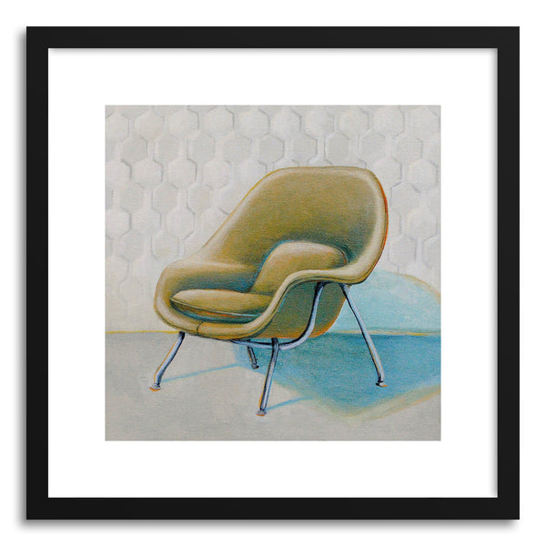 Fine art print Saarinen Womb Chair by artist Laura Browning