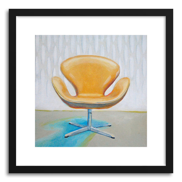 Fine art print Arne Jabobsen Swan Chair by artist Laura Browning