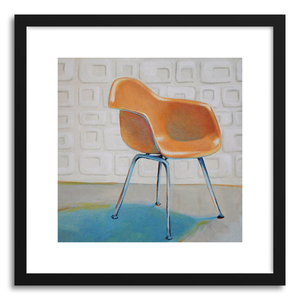 Fine art print Eames Molded Plastic Armchair by artist Laura Browning