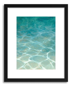 hide - Art print Mallorcan Coast by artist Laura Browning in white frame
