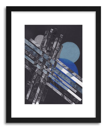 Art print Blue Moons No.5 by artist Jane Philipps