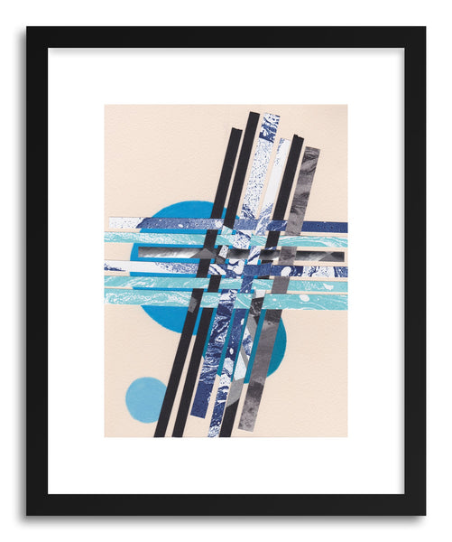 Art print Blue Moons No.7 by artist Jane Philipps