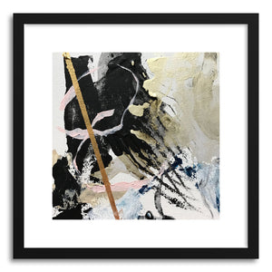 hide - Art print Art No.1 by artist Samantha Rueter in white frame
