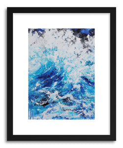 hide - Art print Swell by artist Samantha Rueter in natural wood frame