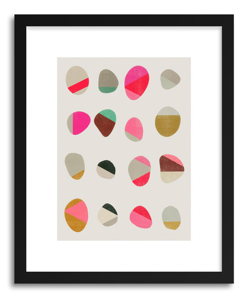 Fine art print Painted Pebbles No.1 by artist Garima Dhawan