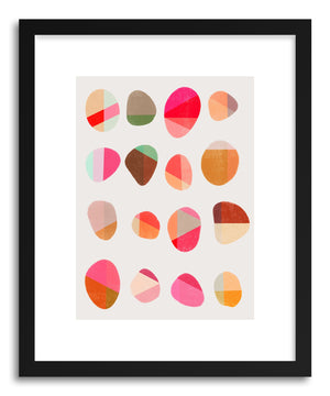 Fine art print Painted Pebbles No.5 by artist Garima Dhawan