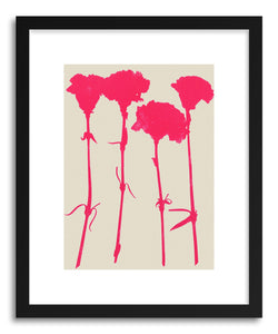 hide - Art print Carnations No.2 by artist Garima Dhawan in white frame