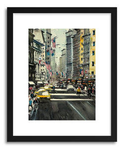 hide - Art Print American Roads I by artist Maximilian Damico in natural wood frame