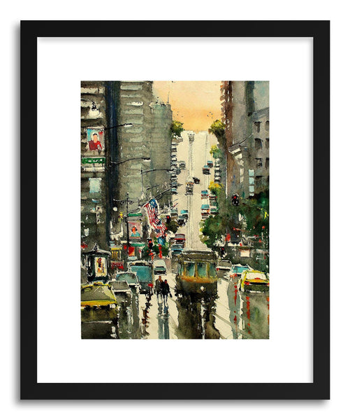 Fine art print San Francisco Cross Street by artist Maximilian Damico