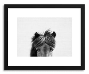 hide - Art print Print 191 by artist Lola Peacock in white frame