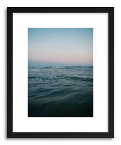 hide - Art print Oceanwells by artist Tina Crespo in natural wood frame