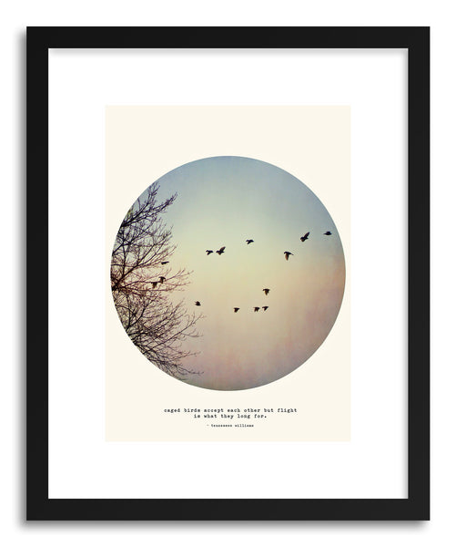 Fine art print Caged Birds by artist Tina Crespo