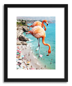 Fine art print Flamingos On The Beach by artist Uma Gokhale