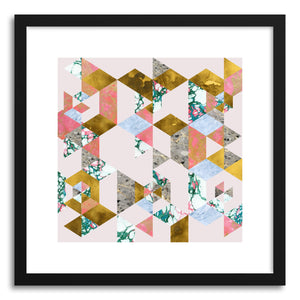 hide - Art print Geometry Of Love Main by artist Uma Gokhale in natural wood frame