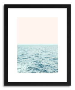 hide - Art print Sea Breeze by artist Uma Gokhale in natural wood frame
