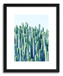 hide - Art print Cactus V2 by artist Uma Gokhale in natural wood frame