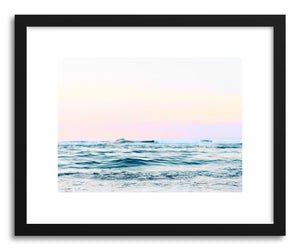 hide - Art print Dreamy Ocean by artist Uma Gokhale in natural wood frame