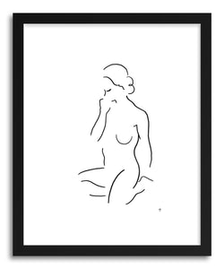 hide - Art print 1705 by artist David Jones in white frame