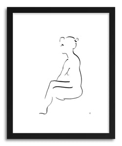 hide - Art print 1707 by artist David Jones in white frame