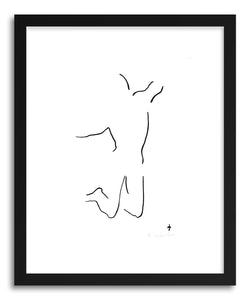 hide - Art print 1360 by artist David Jones in white frame