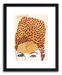 hide - Art print Goldie Portrait by artist Santhosh C H in natural wood frame