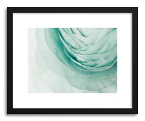 hide - Art print Layered Mint by artist Karen Kardatzke in natural wood frame