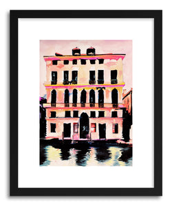 hide - Art print Prada Palazzo by artist Leigh Viner in white frame