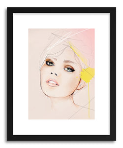 hide - Art print Meanwhile by artist Leigh Viner in white frame