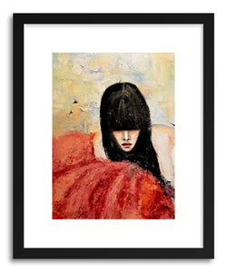 hide - Art print Tulle by artist Leigh Viner in natural wood frame