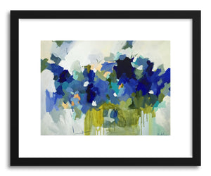 hide - Art print Blue Muse by artist Pamela Munger in white frame