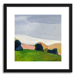 hide - Art print Modern Landscape by artist Pamela Munger in natural wood frame