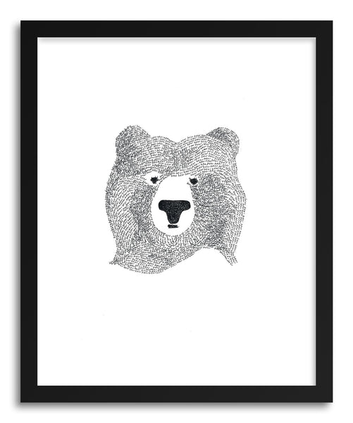 Fine art print Bear Of Few Words by artist Kerry Layton