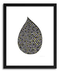 hide - Art print Mono Drop by artist Kerry Layton in natural wood frame